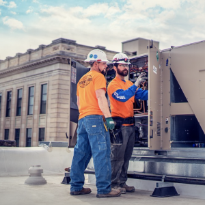 Torgeson industrial electrical project on a rooftop